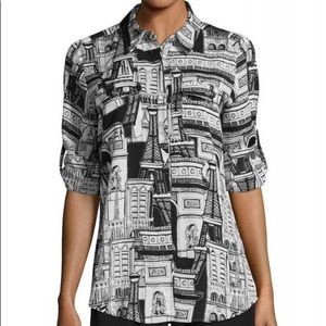 Karl Lagerfeld Paris Multi Paris Button Down